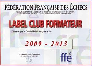 Label Club Formateur de 2009 à 2013